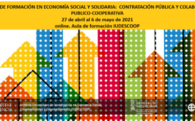 V Curso de Formación en Economía Social y Solidaria: Contratación pública y colaboración público-cooperativa